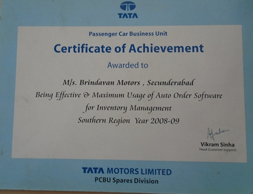 Certificate of Achievements